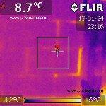 Утечка тепла фасад дома